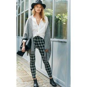 NWT Madewell High Riser Skinny Plaid Jeans